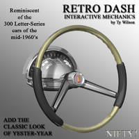 3d model of retro steering wheel
