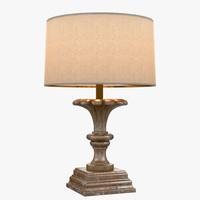 3d custom lamp 19th century model