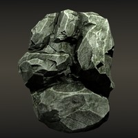 Rocks Formation Low Poly