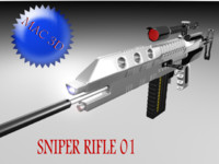 conceptual sniper rifle 3d model
