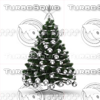 christmas tree 3d obj