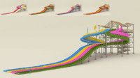 octopus water slide 3d model
