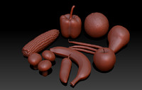 free fruits vegetables 3d model