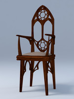 chair gothic 3ds