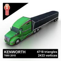 2015 t680 tipper 3d model