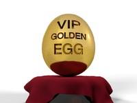 money vip golden egg 3d model