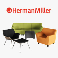 3d herman miller swoop lounge furniture model