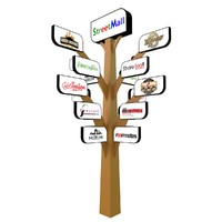 tree signboard 3d 3ds