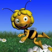 bee rigged 3d model