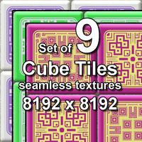 Cube Tiles 9x Seamless Textures