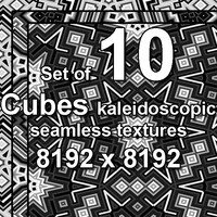 Cubes Kaleidoscopic 10x Seamless Textures, set #1
