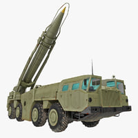 3d model scud missile launcher maz-543