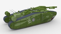 world war style tank 3d max