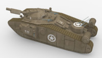 maya world war style tank