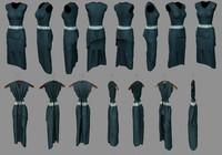 3d dress woman coat