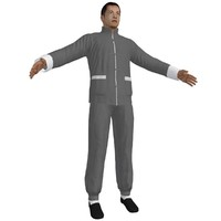 kung fu martial artist 3d model