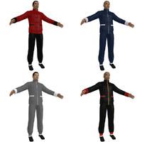3dsmax kung fu martial artist