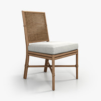 3d model mcguire square caned chair