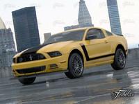 mustang boss 2013 car 3d max