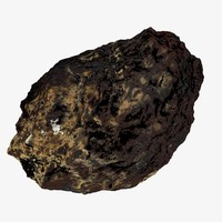Asteroid rock 3d model space