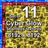 Cyber Glow 11x Seamless Textures