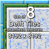 Delft Tiles 8x Seamless Textures