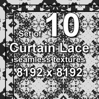 Curtain Lace 10x Seamless Textures, set #5