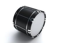 3d bass drum model