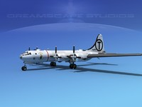 3d model superfortress b-29 bomber