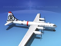 3ds max superfortress b-29 bomber usaf