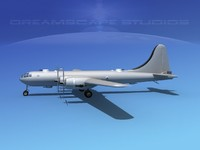 3d model of superfortress base modeled b-29