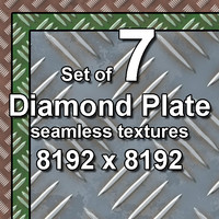 Diamond Plate 7x Seamless Textures