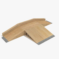 3d model of skate ramp fun