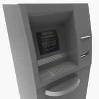 3d model cash machine