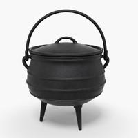 iron pot 3d max