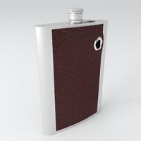 flask bullet 3d model