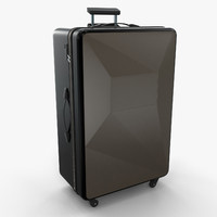 3d model modern luggage suitcase bag