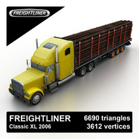 2006 freightliner classic timber 3d obj