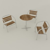 chair table set outdoor 3d 3ds