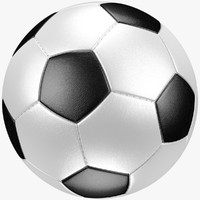 3d classic soccer ball model