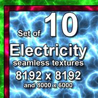 Plasma Electricity 10x Seamless Textures
