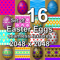Easter Eggs 16x Seamless Textures