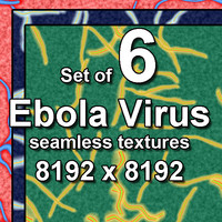 Ebola Virus 6x Seamless Textures