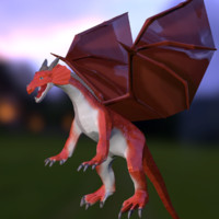 rigged medieval dragon 3d obj