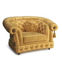 3d armchair classic furniture model