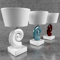flos table lamp 3d model