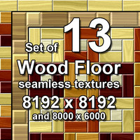 Wood Floor 13x Seamless Textures, set #1