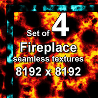 Fireplace 4x Seamless Textures