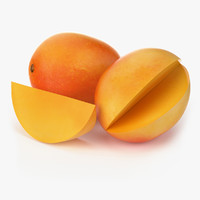 3d model realistic mango fruit real