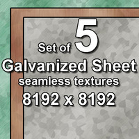 Galvanized Sheet 5x Seamless Textures